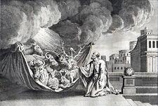 PETER'S VISION 1777 Charles Grignion - Jan Luyken ANTIQUE ETCHING