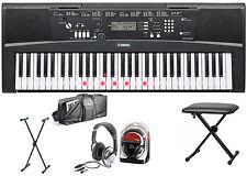 Yamaha ez-220 Keyboard bundle III con soporte, auriculares, Keyboard bank, bolso