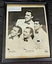 Vintage 1950's Four Aces Band Group Autographed Photo Original Members Decca MCR