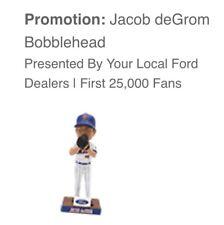 Jacob deGrom Bobblehead New York Mets 7/7/2018 Citi Field MLB SGA PRESALE