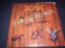 """AC/DC SIGNED RECORD TITLED """"FLY ON THE WALL"""" 4 MEMBERS ANGUS YOUNG INCREDIBLE!"""
