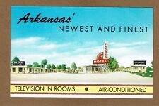"""North Little Rock, AR Arkansas Rhodes Motel """"Television in rooms"""" dated 1955"""