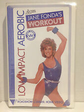 JANE FONDA'S ~ LOW IMPACT AEROBIC WORKOUT ~ VHS VIDEO