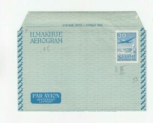 Wb053/ Finnland Ganzsache Aerogramm 3 II *