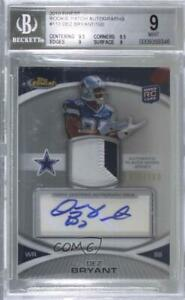 2010 Topps Finest /100 Dez Bryant #110 BGS 9 RPA Rookie Patch Auto