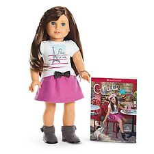 American Girl LE GRACES DOLL & BOOK Paris Chef Clothes Brown Hair Blue Eyes NEW