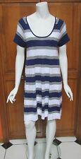 Lacoste 100% Cotton Short Sleeve Striped Shift Dress Sz 8 (40) NWT $145