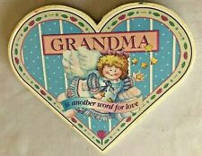 """Wood 6"""" Grandma is Another Word for Love - Heart Sign"""