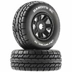 Bandito Short Course Mounted Soft Tires, Black 17mm Hex (2) Duratrax DTXC5270