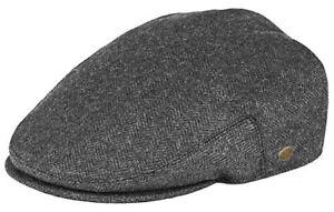 Classic Men's Herringbone Newsboy Flat Hat Wool Ivy Gatsby Driving Cap