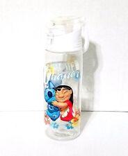 "Disney Parks "" Ohana "" Stitch and Lilo Hugs Plastic  Clear Tumbler Mug"