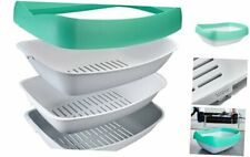 Luuup Litter Box - 3 Sifting Tray Cat Litter Box is Antimicrobial and Easy to Cl