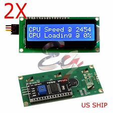 2X IIC/I2C/TWI 1602 Serial Blue Backlight LCD Display For Arduino