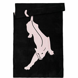 Agent Provocateur beach towel NEW panther black pink XL size