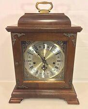 Vintage Hamilton Bracket Clock Runs & Strikes Westminster Chimes Needs Attention