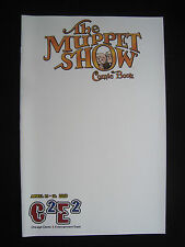The Muppet Show 4 C2E2 2010 Blank Cover Variant rare Boom
