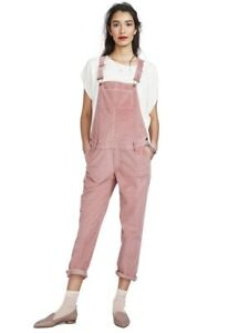 Hatch Maternity Women's THE CORD OVERALL Rose Size 2 (M/8-10) NEW