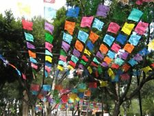 Messicano Papel Picado Banner | 5 METRI/16.4 FT (ca. 5.00 m) Multi-Color Striscione Bandierine