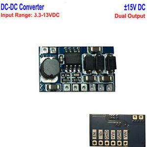 DC-DC Boost Step Up Converter  ±15V Dual Channel Output 3.3V 5V 6V 9V 12V to 15V
