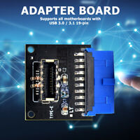 USB 3.1 Type C Front Panel Socket Board USB3.0 19Pin to TYPE-E 20Pin Adapter