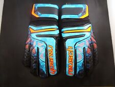 Reusch Soccer Prisma SG Finger Support Goalkeeper Gloves - Blue/Black - D90