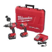 Milwaukee 2897-22CX M18 FUEL Brushless 18V Combo Kit Hammer Drill / Impact - NEW