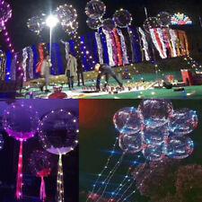 20inch Luminous Led Balloon Transparent Round Bubble Decoration Party Wedding A