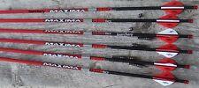 Maxima Red SD 350 Arrows 1/2 dz Nocks Nock Busnings & Inserts  Cut Free