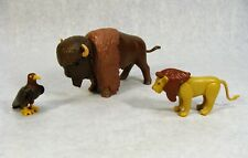PLAYMOBIL WESTERN ANIMALS BISON BUFFALO LION AND HAWK