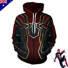 Infinity War Iron Spider Hoodie Sweater Coat 3D Print Spiderman Cosplay Costume