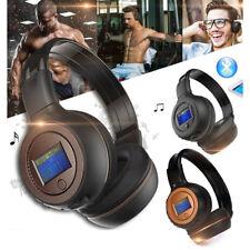 Wireless Bluetooth Headset Stereo-Kopfhörer mit MP3 Player/Mic/LCD-Bildschirm DE