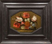 17th Century Dutch Old Master Still Life Flowers Tulips Carnations Oil Painting