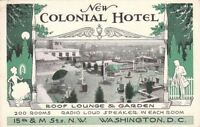 Postcard New Colonial Hotel Washington D.C.