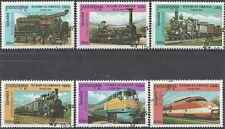 Timbres Trains Cambodge 1782G/M o lot 22941