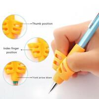 3xSilicone Kid Baby Pen Pencil Holder Help Learn Writing Tool Posture Correction
