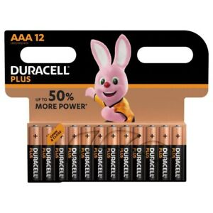 Duracell Plus Power AAA LR03 Batteries   12 Pack