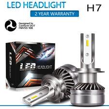 H7 LED Headlight Conversion Kit Hi-Low Beam 60W 12000LM 6000K White Bulbs