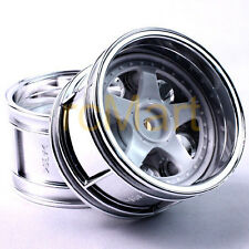 Tamiya 5-Spoke Wheels Wide 32mm TA01 TA02W EP 1:10 RC Car On Road #50673