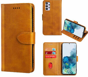 Galaxy A32 4G Wallet Case Cowhide Finish Pu Leather Magnet Card Slots