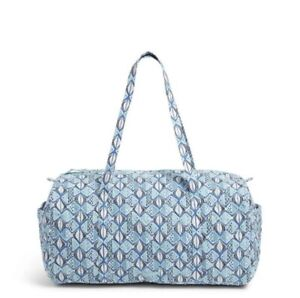 Vera Bradley Go Fish Blue Large Traveler Duffel Weekend Bag New with Tags