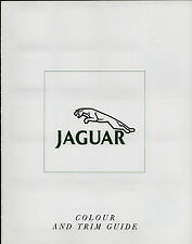 Jaguar Daimler Colour & Trim 1990 UK Market Sales Brochure XJ6 Sovereign V12 XJS