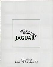 Jaguar Daimler Colour & Trim 1990 UK Market Sales Brochure XJ6 Sovereign V12 XJS