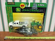 John Deere 4020 With Dodge Ram Pickup & Trailer By Ertl 1/64th Scale >