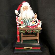 Holiday Creations Christmas Scene Musical W/ Light Santa - Holiday Scene vintage
