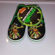 TEENAGE MUTANT NINJA TURTLES - Toddler Boys Multi-Color Slip on Shoes  Size 5/6