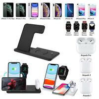 Chargeur sans fil 4 en 1 Pour iWatch 4 3 2 & Écouteurs & iPhone 11 Pro Max XS