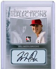 Will Middlebrooks 2011 ITG Heroes & Prospects REFLECTIONS AUTO Rookie SP /5 HOT