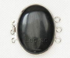30*40mm 3 strand row Jewelry Design Findings black agate Clasp W898A20E4