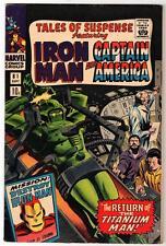 MARVEL Comics  TALES OF SUSPENSE  #81 1965 FN+ 6.0 IRON MAN  Titanium man