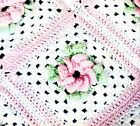 CROCHET PATTERN Vintage Victorian Rose Baby Afghan Shawl Blanket Bear Toys COPY